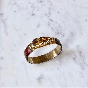 Vita Fede Jewelry - Vita Fede 24 KT Gold Plated Snakeskin Bracelet